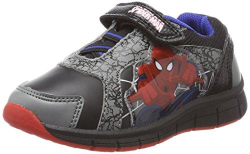 Spiderman Jungen SP004650 Sneaker, Grau (Pewter/Black/Black/Black), 28 EU (Spider-man-klettverschluss)