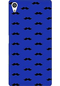 AMEZ designer printed 3d premium high quality back case cover for Sony Xperia Z5 Plus (dark blue moustache muchi beard)