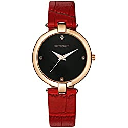 Fashion ladies quartz watch/ strap waterproof watch/Simple casual watches-A