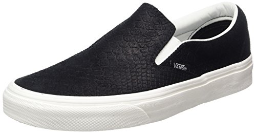 Vans Unisex Adults' Classic Slip-on Trainers, Black ((Snake) Black/Blanc), 6 UK 39...