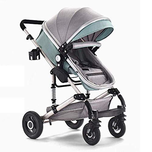 DXDZQ Kinderwagen, Cabrio-Kinderwagen zum Kinderwagen, Kinderwagen mit Fußabdeckung, großer Stauraum, Radaufhängung