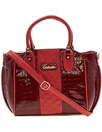ESBEDA Maroon Solid Pu Synthetic Material Handbag For Women