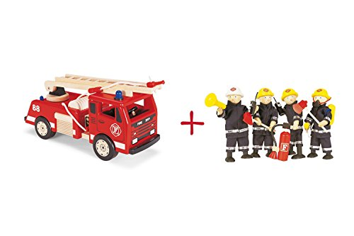 Preisvergleich Produktbild Feuerwehrauto & Feuerwehrmänner mit Zubehör