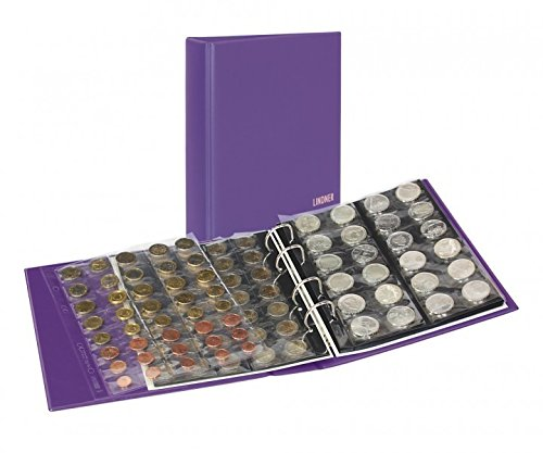 Album numismatique PUBLICA M COLOR [Lindner S3540M], Avec 10 feuilles numismatiques - Couleur: Viola (violet)