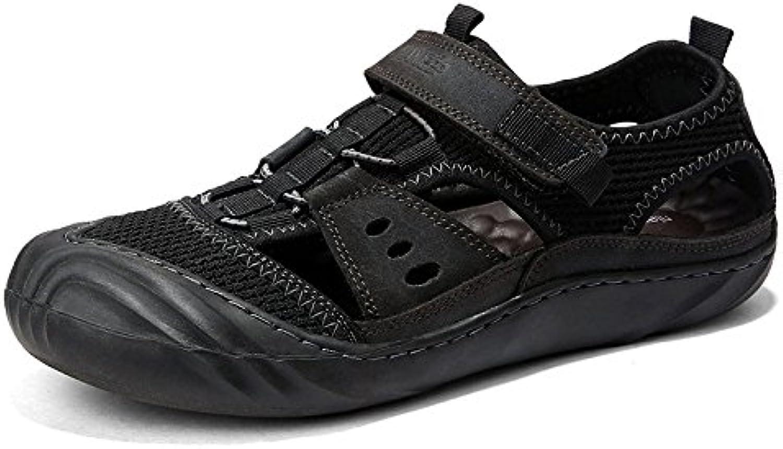 LEDLFIE Sandalen Mode Herren Freizeitschuhe Im Freien Strand Schuhe Herrenschuhe Black 41LEDLFIE Sandalen Freizeitschuhe Herrenschuhe Black 41