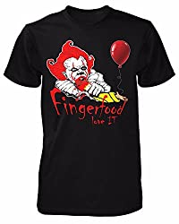 Fingerfood Love IT T-Shirt Horror Clown Film Movie Liebe ES Kult Pennywise Fun