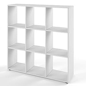 vicco b cherregal nove 9 f cher raumteiler standregal aktenregal aufbewahrung regal wei. Black Bedroom Furniture Sets. Home Design Ideas