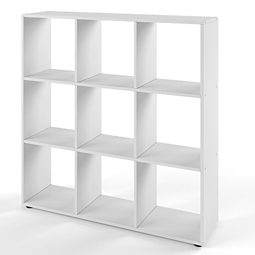 VICCO Raumteiler NOVE 9 Fächer Weiß - Regal Bücherregal Standregal Aufbewahrung Me...