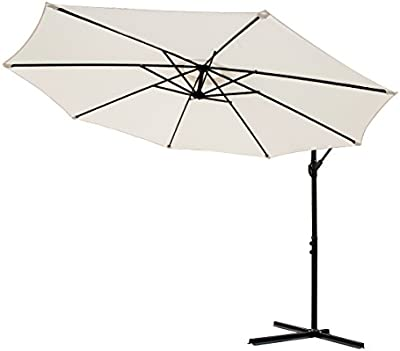 Para sombrilla marfil voladizo 3 m Banana Garden tamaño grande para colgar paraguas aluminio