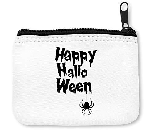 Happy Halloween Black Spider Münzen Reißverschluss Geldbörse