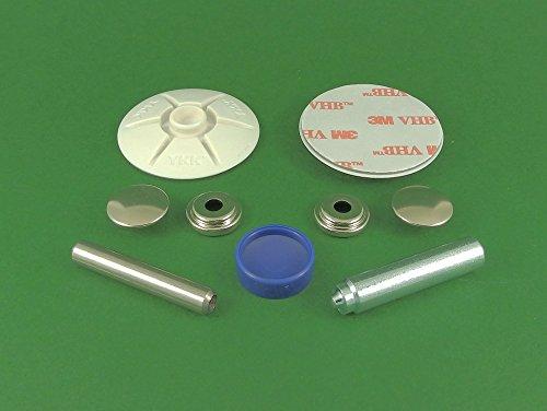 Preisvergleich Produktbild BP snad 2 K – snad Verschluss-Set,  weiß selbstklebend 40 mm Ohrstecker für Wohnwagen / Caravan / Wohnmobil / Boot / Sonnensegel