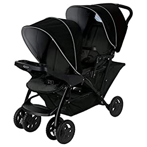 Graco Stadium Duo Click Connect Tandem Pushchair, Black/Grey   7