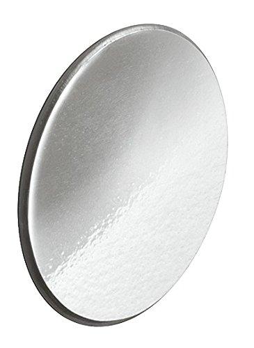 Preisvergleich Produktbild Gedotec Abdeckkappen selbstklebend Capfix überstreichbar | Kappe chrom-farben Ø 13 mm | Lochabdeckungen Kunststoff für Bohrlöcher, Schrauben uvm. | 20 Stück