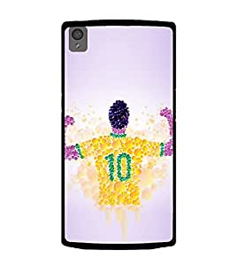 PrintVisa Designer Back Case Cover for OnePlus X :: One Plus X (Bubble Image of Sports Person Jersy)