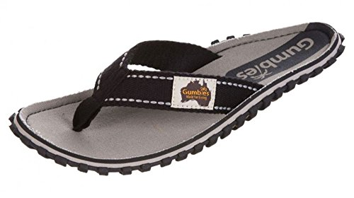 Gumbies Islander Men's Canvas Flip-Flops, Gravel, 10 UK