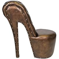 Comparador de precios Casa-Padrino High Heel Armchair with Decorative Stones Bronze Luxury Design - Designer armchairs - Furniture Club - Shoe Chair Armchair - precios baratos