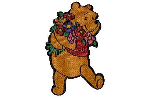 alles-meine.de GmbH Winnie The Pooh 4,1 cm * 6,5 cm Aufnäher Applikation Bügelbild Patch Bär Bear -