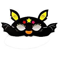 Haodou Halloween Party Cartoon Paper Mask Kindergarten Masquerade Prom Ball Party Pumpkin Bat Pirate Mask Cosplay Dress-Up Costume Accessory (Black)