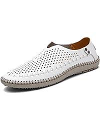 d87b7e3dca481 KAMIXIN Mocassini Estivi Uomo Pelle Mocassino Pantofole Casual Eleganti  Slip On Scarpe da Guida Scarpe da