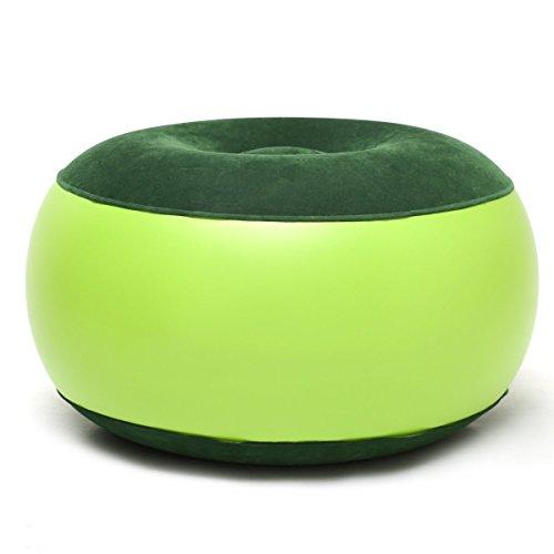 cohk sillón hinchable resistente portátil al aire libre silla de camping hinchable taburete reposapiés Cojín para oficina en casa Yoga