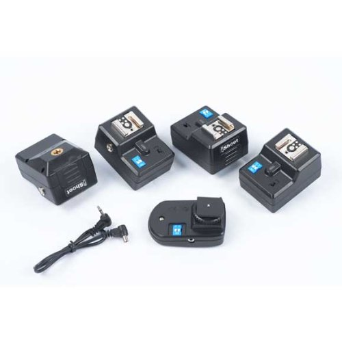 4 Channel PT-04CN Wireless Flash Trigger Control Set with 4 x Receivers