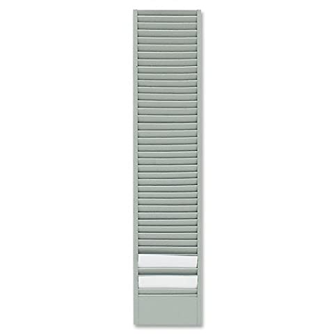 Edsal Sandusky 0839-32 Card Rack, 40 Pocket Badge, Steel, Horizontal Orientation, 1.9 cm x 47 cm x 10.2 cm, Grey (Pack of 6)