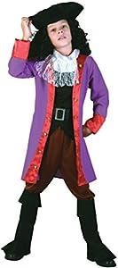Bristol Novelty Traje de Pirata Garfio (L) Edad aprox 7-9 años