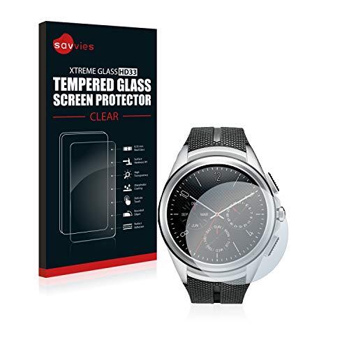 Savvies Panzerglas kompatibel mit LG Watch Urbane 2nd Edition - Echtglas Schutzfolie 9H