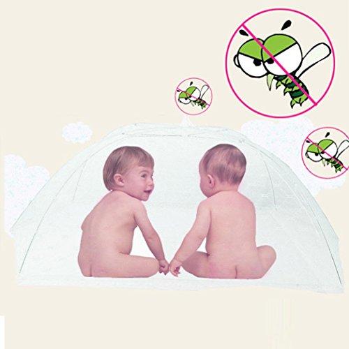Clode® Baby bewegliches faltendes Moskito Ineinander greifen Haube Vorhang Netz Weiß