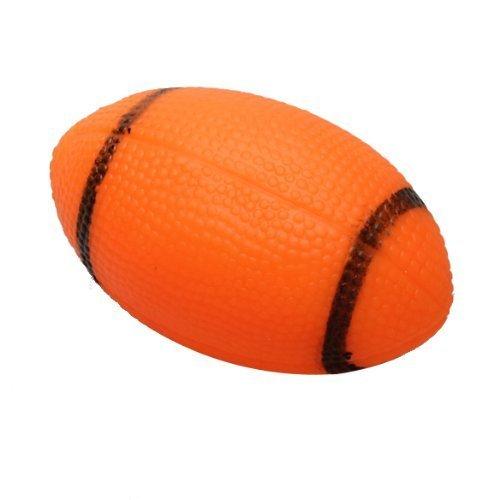 Haustier Kauen Spielzeug - SODIAL(R)Hund piepsig Spielzeug fuer Haustier Hunde Kauen Spielzeug Kleine Gummi piepsig Rugbyball Orange