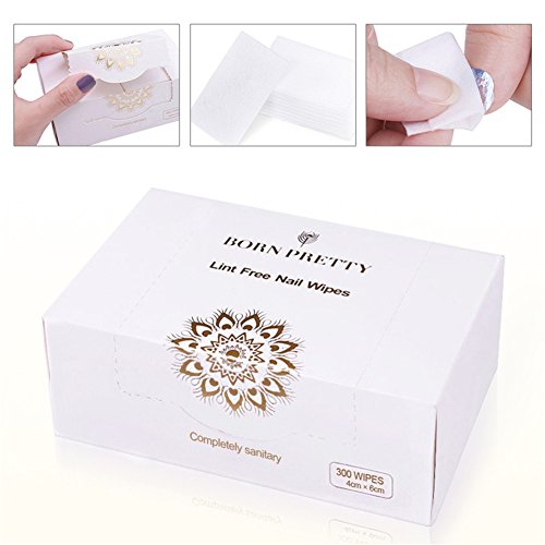 Born Pretty Nail Gel Polish Remover Lint-Free Cleaning Cotton Pads Wipe Tips DIY Manicure Tools Set
