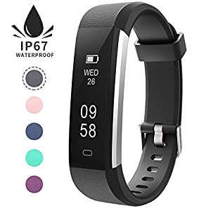 REDGO Fitness Tracker Watch Slim Color Touch Screen Wearable Activity Tracker as Pedometer Sleep Monitor for Android or iOS Smartphones Kids Women Men Boys Girls Ladies Childrens Youth