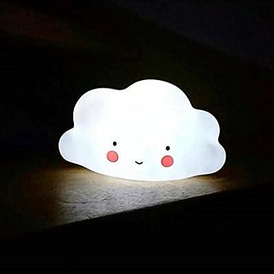 Hunpta Kinder niedliche Wolke mit Gesichtsform Lampenraum Licht Korridor Dekor kleines Nachtlicht