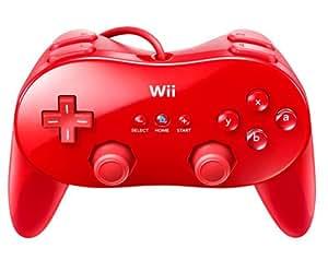 Manette classique pro. Wii rouge