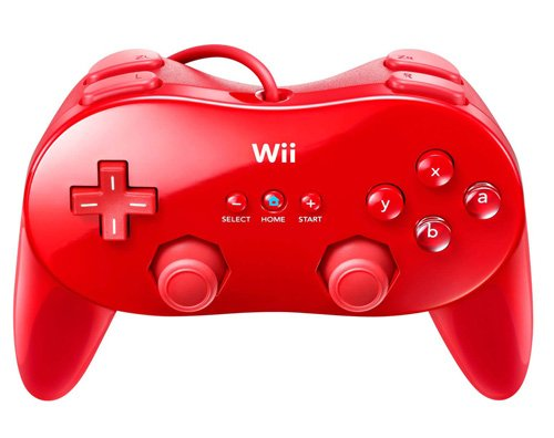 Nintendo Wii - Classic Controller Pro, rot (Nintendo Wii Classic Controller)