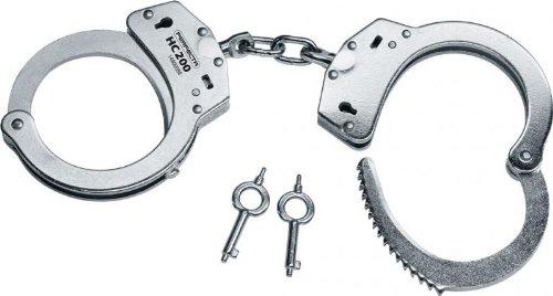 Perfecta Handschelle HC200 Standart Stahlfesseln mit Kette, 2.1702