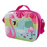 POS Handels GmbH Trendige Kühltasche mit 3D Flamingo Motiv, ca. 25 x 19 10 cm groß, aus 100% Polyester Canvas & Beach Tote Bag, cm, Multicolour (Bunt)