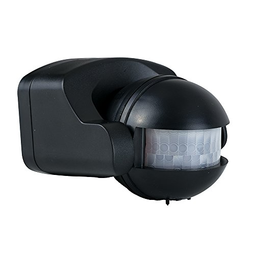 MiniSun Infrarot-Bewegungsmelder, IP44, Sicherheit, Schwarz -
