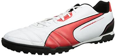 Puma Universal TT Football Shoes Men's, White - Weiß (white-high risk red-black 04), 45 EU