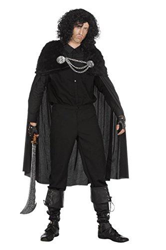 Herren Kostüm Umhang Krieger des Nordens schwarz Halloween (Norden Kostüme)