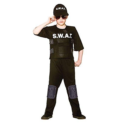 S.W.A.T Team Kommandant Uniform Kinder Boys Kostüm (Kostüme A W T S Team Kind)