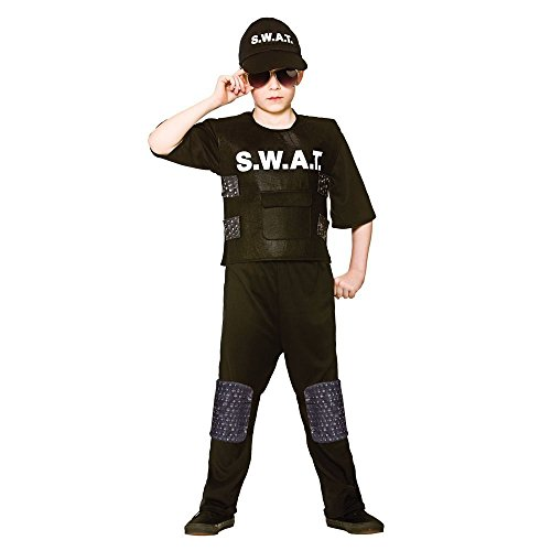 S.W.A.T Team Kommandant Uniform Kinder Boys Kostüm 122-134cm