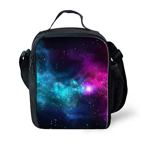 POLERO Galaxy Universe Printed Lunch Bag Isolierte Einkaufstasche Lunch Box Resuable Kühltasche Mittagessen-Behälter wasserdichte Mittagessen Halter für Damen/Herren und Kinder - Pastell-behälter