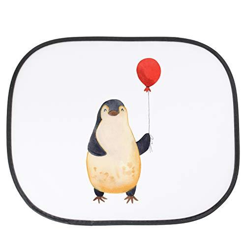 der, Familie, Auto Sonnenschutz Pinguin Luftballon - Farbe Weiß ()