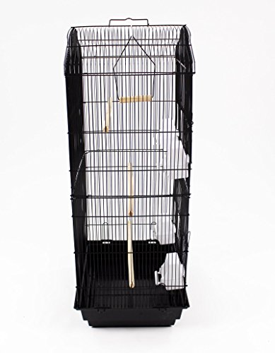 Easipet Large Metal Bird Cage for Budgie, Cockatiel, Lovebirds etc (Black) 8