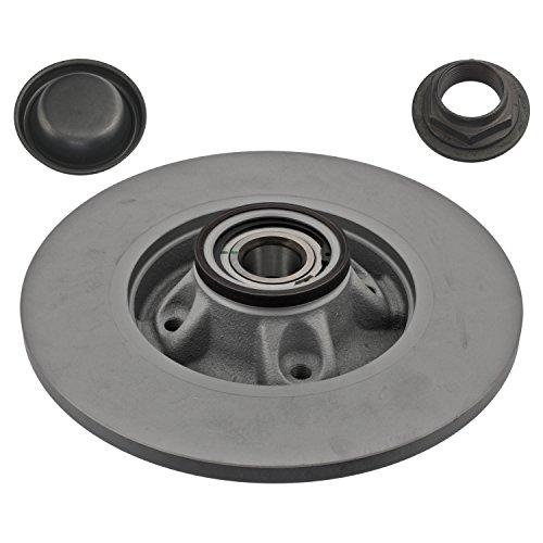 Preisvergleich Produktbild febi bilstein 37680 Bremsscheibe mit Radlager und ABS Impulsring (1 Bremsscheibe) hinten,  voll,  Lochanzahl 4
