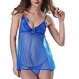 TianWlio Damen Dessous Nachtwäsche Mode Sexy Frauen Sexy Dessous Spitze Babydoll V-Ausschnitt Nachtwäsche Unterwäsche aus Schulter Rock