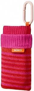 Sony LCS-CSZ Housse de transport pour Appareil Photo Compatible avec les séries T et W Rose