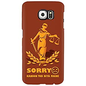 URBAN KOLOURS Original Designer Printed Hard Case Back Cover for Samsung Galaxy S6 (Kanoon)