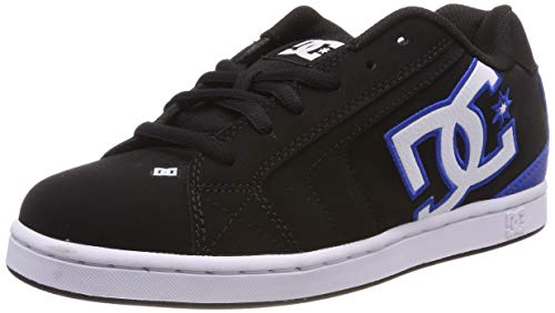 DC Shoes Herren NET Skateboardschuhe, Schwarz (Black/Blue - Combo Xkkb), 40 EU (Dc Mens Fashion Sneaker)